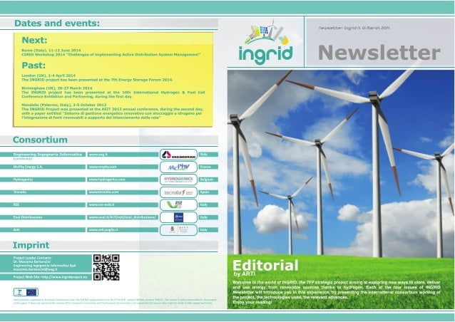 INGRID Newsletter - N°1 March 2014
