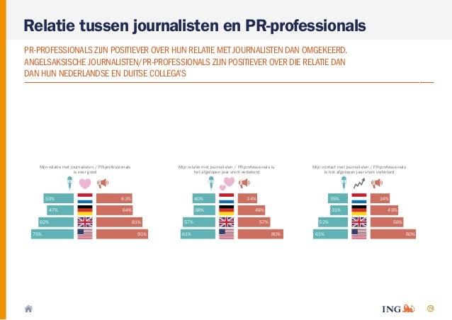 72 Relatie tussen journalisten en PR-professionals PR-PROFESSIONALS ZIJN POSITIEVER OVER HUN RELATIE MET JOURNALISTEN DAN ...