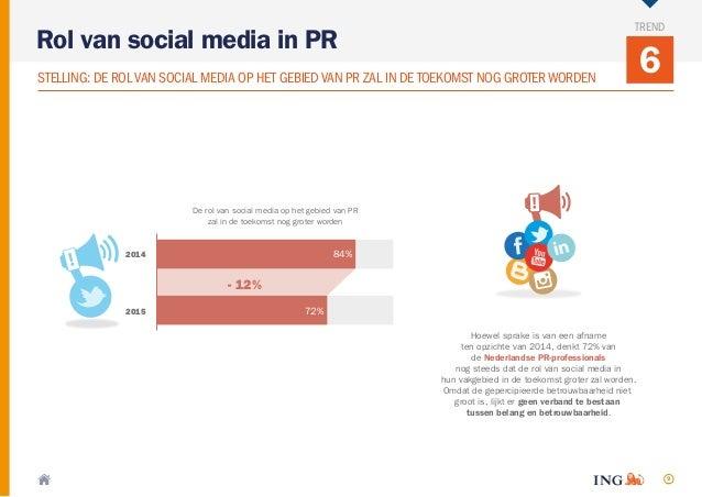 9 6 Rol van social media in PR TREND STELLING: DE ROLVAN SOCIAL MEDIA OP HET GEBIED VAN PR ZAL IN DE TOEKOMST NOG GROTERWO...