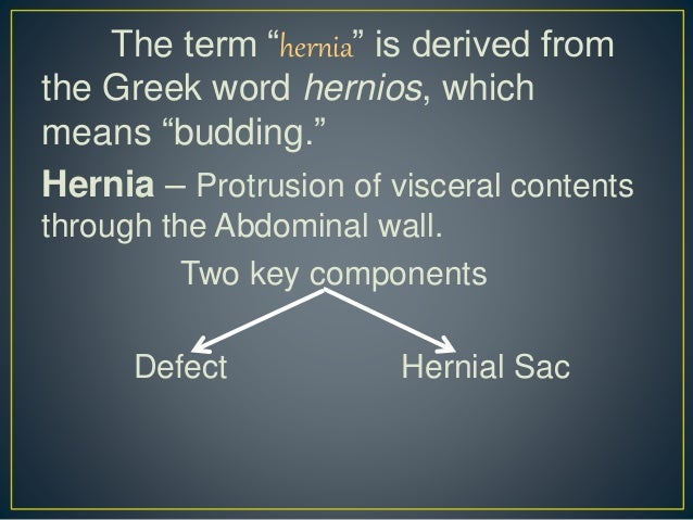 Restricted hernia: clinical picture and varieties