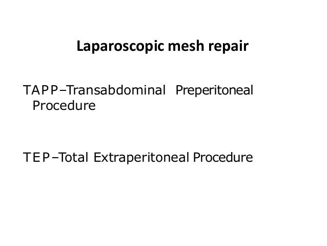 CONCLUSION Laparoscopic and Lichtenstein open mesh repairs were associated with good long term results and a low incidence...