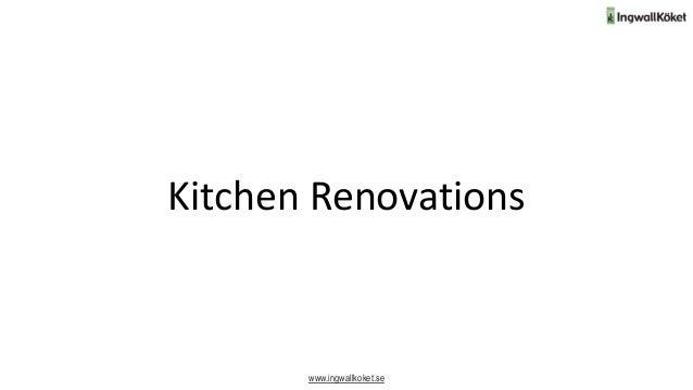 Kitchen Renovations www.ingwallkoket.se