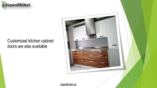 ingwallkoket.se  Customized kitchen cabinet  doors are also available