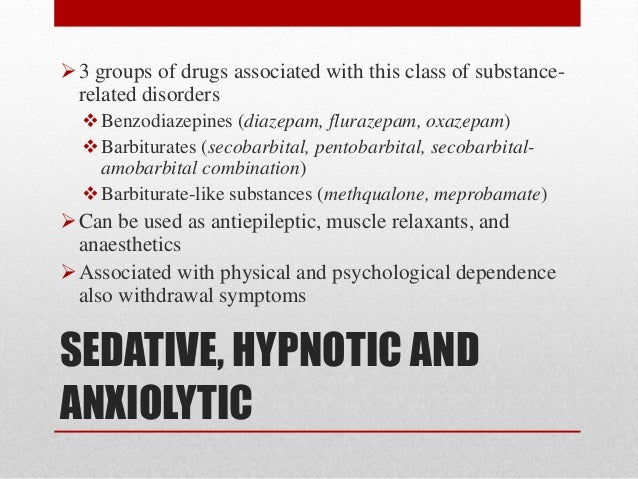 Sedative Withdrawal Emergency Room