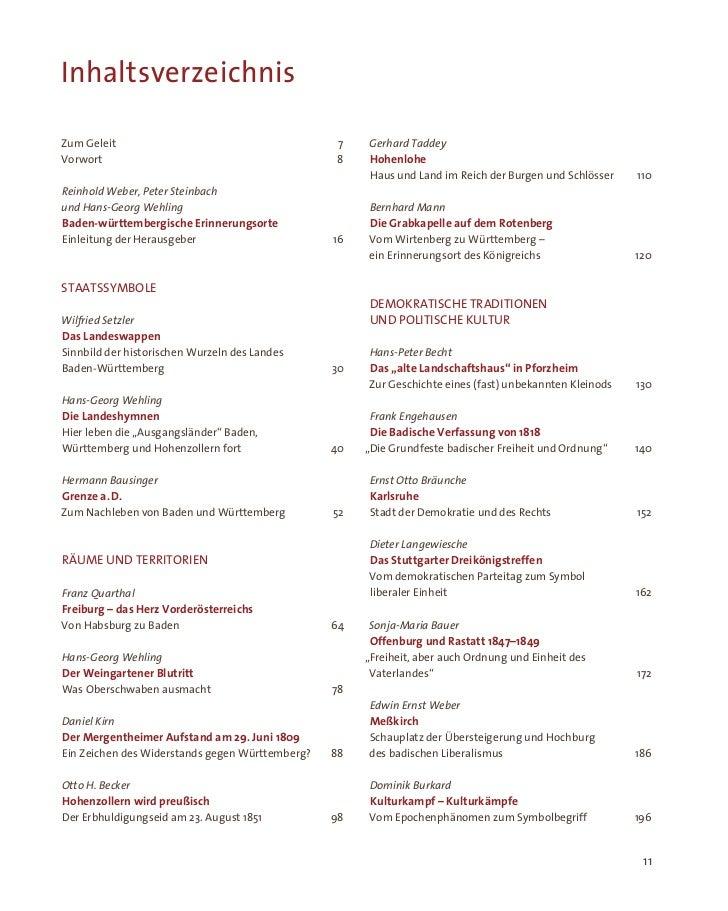 InhaltsverzeichnisZum Geleit                                        7   Gerhard TaddeyVorwort                             ...
