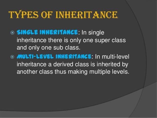 Inheritance in oops