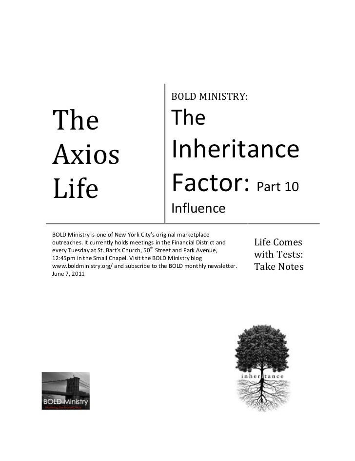 BOLD MINISTRY:The                                         TheAxios                                       InheritanceLife  ...