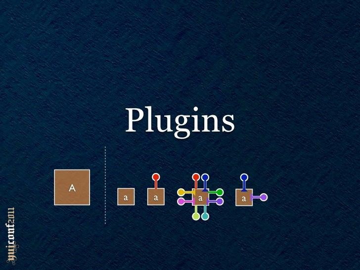 Plugins var overlay = new Y.Overlay({ ... }); overlay.plug(Y.Plugin.Drag); overlay.dd.set(lock, true); overlay.unplug(dd);