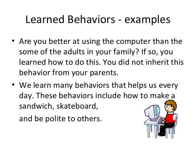 inherited traits-and-learned-behaviors