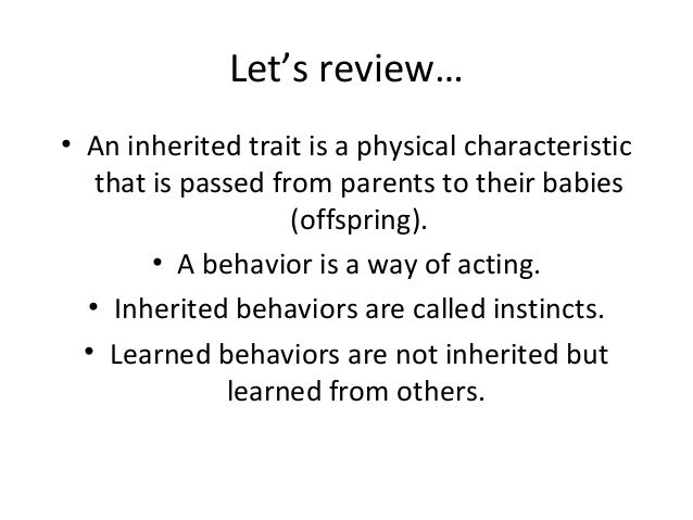 Printables Inherited Traits Worksheet inherited traits and learned behaviors 13 lets an trait