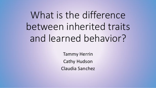 Printables Inherited Traits Worksheet inherited traitslearned behaviors what is the difference between traits and learned behavior tammy herrin cathy hudson claudia