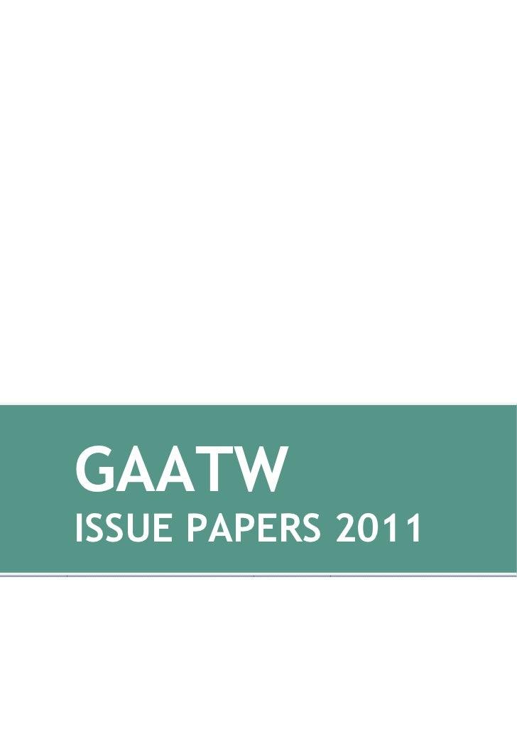 GAATWISSUE PAPERS 2011