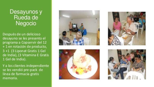 Desayunos y Rueda de Negocio Después de un delicioso desayuno se les presento el programa a Copservir del 12 + 1 en rotaci...