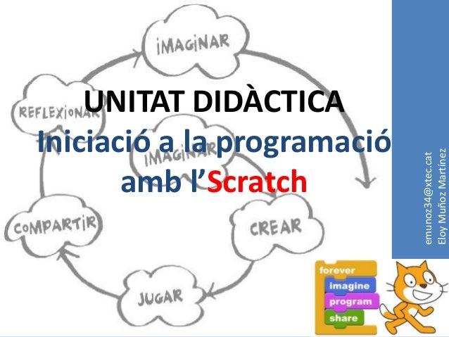 UNITAT DIDÀCTICAIniciació a la programació                             Eloy Muñoz Martínez                             emu...