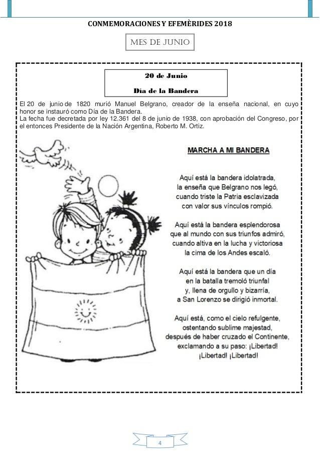 Efemérides Argentinas Nivel Incial
