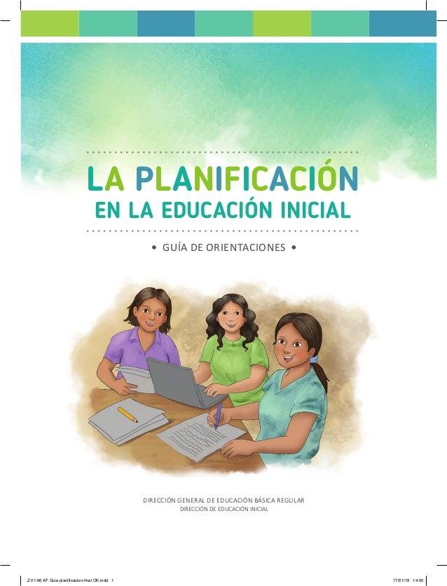 La planificaci n en la educaci n inicial 2019 for Planificacion de educacion inicial
