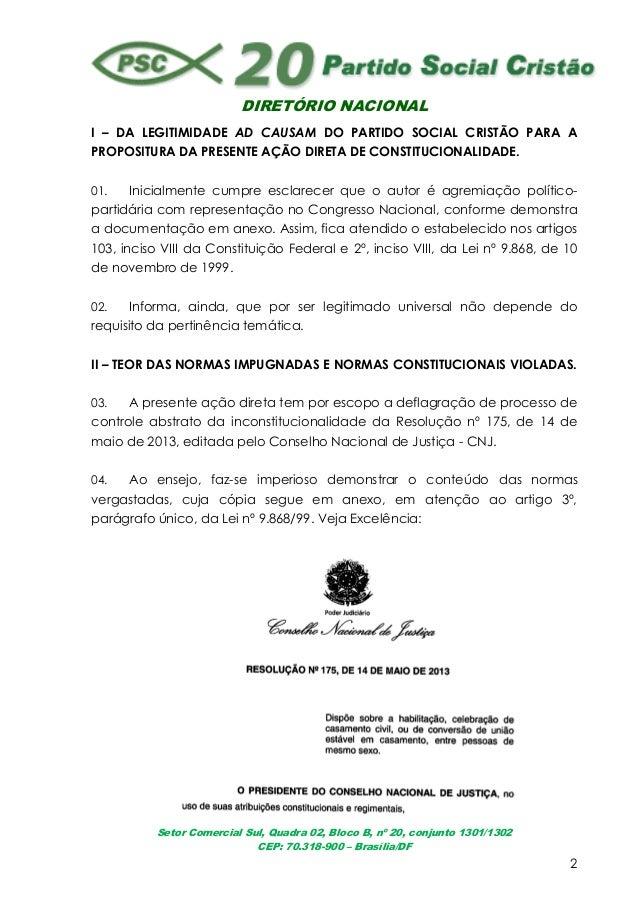 DIRETÓRIO NACIONALSetor Comercial Sul, Quadra 02, Bloco B, nº 20, conjunto 1301/1302CEP: 70.318-900 – Brasília/DF2I – DA L...