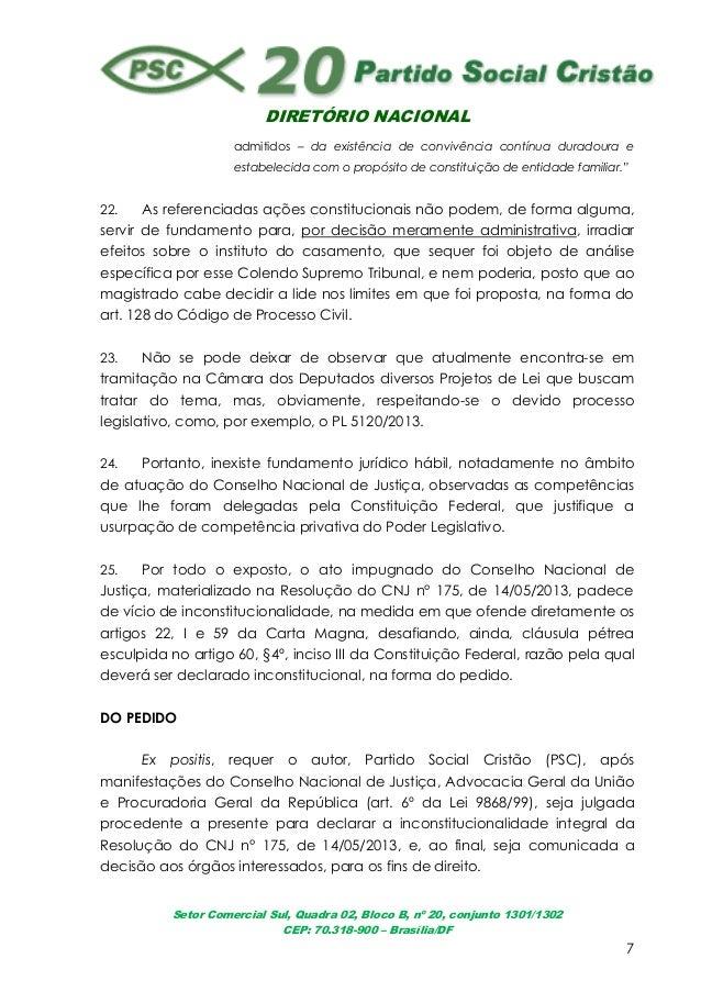 DIRETÓRIO NACIONALSetor Comercial Sul, Quadra 02, Bloco B, nº 20, conjunto 1301/1302CEP: 70.318-900 – Brasília/DF7admitido...