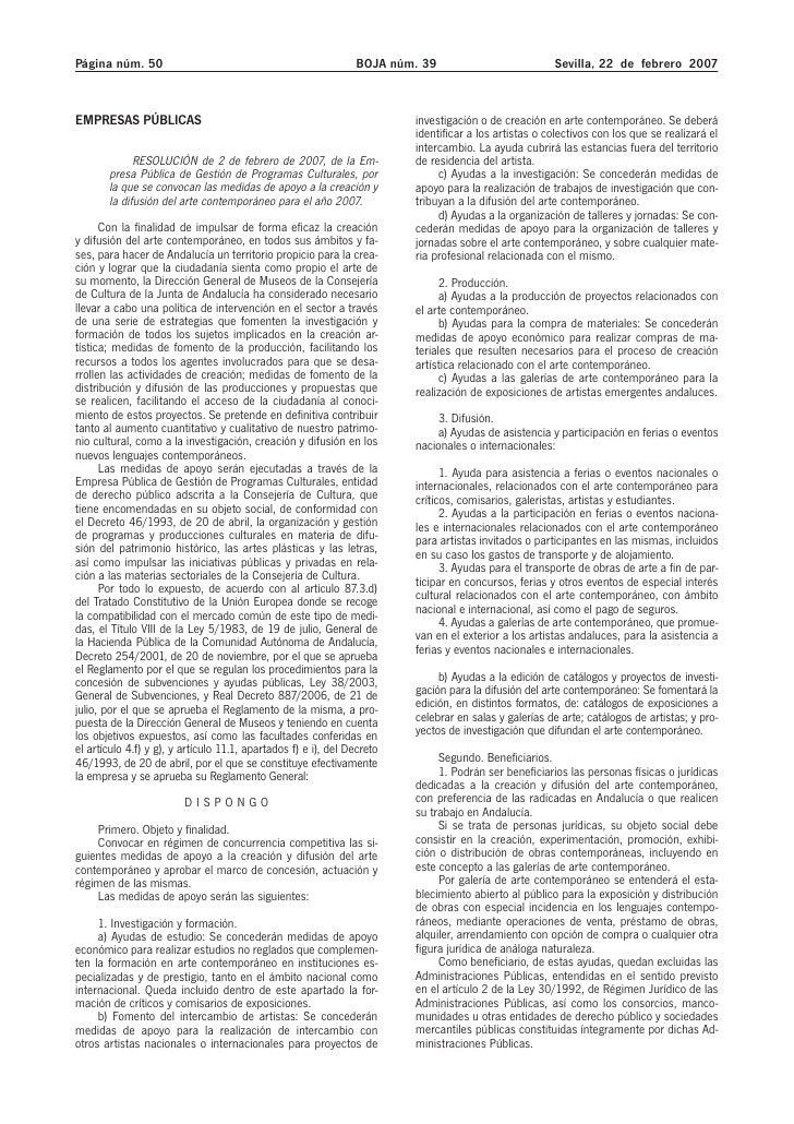 Página núm. 50                                                  BOJA núm. 39                           Sevilla, 22 de febr...
