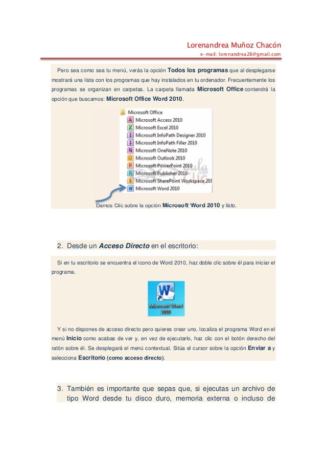 Iniciar word 2010 Slide 2