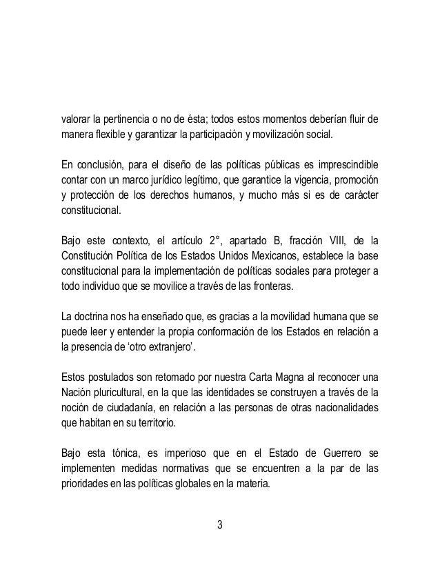 Iniciativa de ley de hospitalidad migratoria del estado de guerrero.