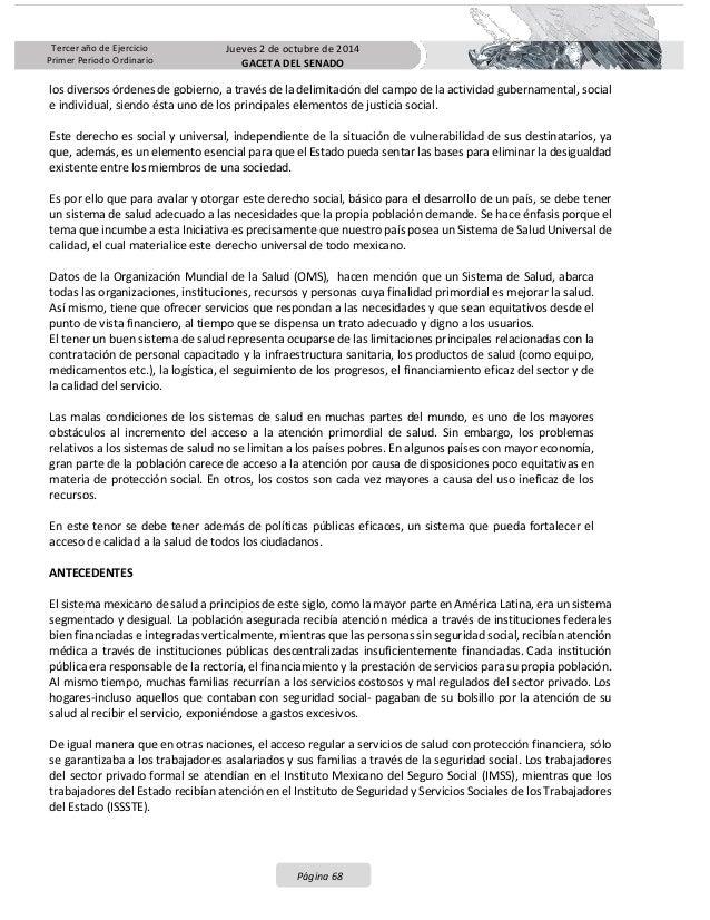 Iniciativa de Reforma al sistema universal de salud presentada por el GPPAN en el senado con su proceso legislativo Slide 3