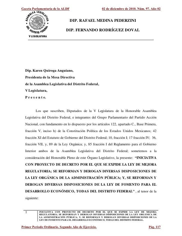DIP. RAFAEL MEDINA PEDERZINI                               DIP. FERNANDO RODRÍGUEZ DOVALDip. Karen Quiroga Anguiano,Presid...