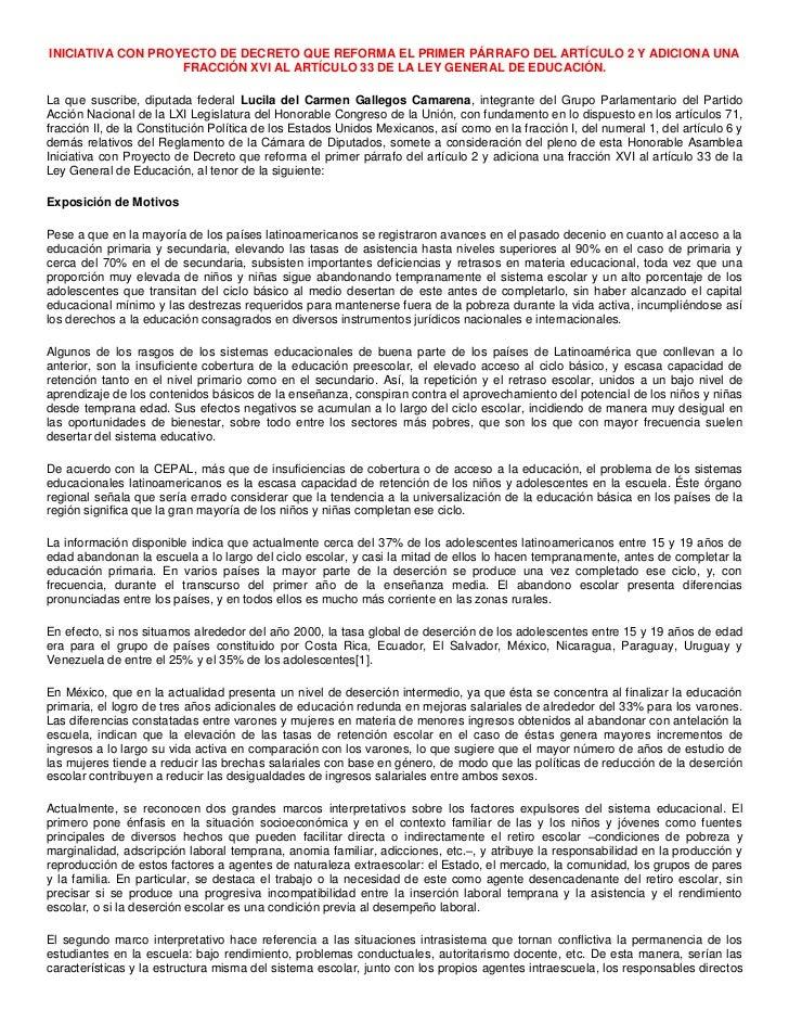 INICIATIVA CON PROYECTO DE DECRETO QUE REFORMA EL PRIMER PÁRRAFO DEL ARTÍCULO 2 Y ADICIONA UNA FRACCIÓN XVI AL ARTÍCULO 33...