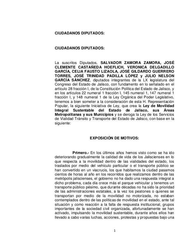 1CIUDADANOS DIPUTADOS:CIUDADANOS DIPUTADOS:La suscritos Diputados, SALVADOR ZAMORA ZAMORA, JOSÉCLEMENTE CASTAÑEDA HOEFLICH...