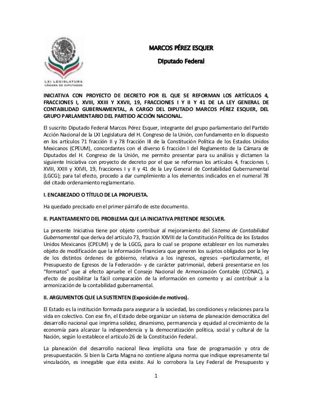 1INICIATIVA CON PROYECTO DE DECRETO POR EL QUE SE REFORMAN LOS ARTÍCULOS 4,FRACCIONES I, XVIII, XXIII Y XXVII, 19, FRACCIO...