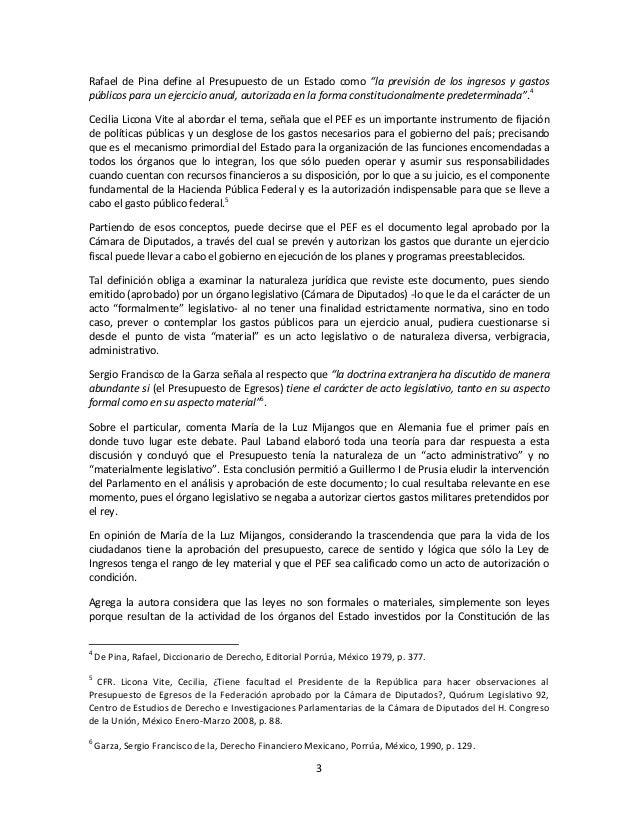 """3Rafael de Pina define al Presupuesto de un Estado como """"la previsión de los ingresos y gastospúblicos para un ejercicio a..."""