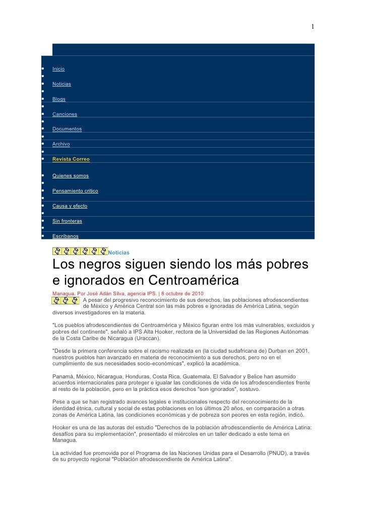 1     •   Inicio • •   Noticias • •   Blogs • •   Canciones • •   Documentos • •   Archivo • •   Revista Correo   •   Quie...