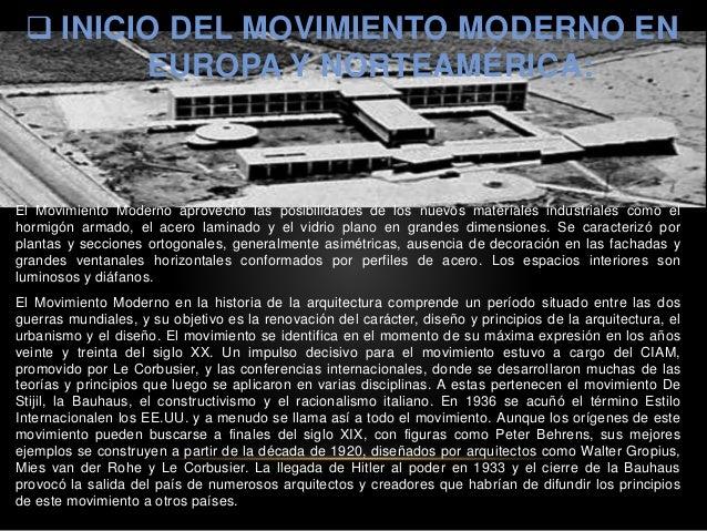 Inicio del movimiento moderno en europa y norteam rica - Movimiento moderno ...