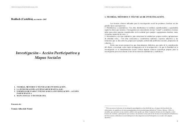 T.Alberich. Investigación-Acción Participativa y mapas sociales.         T.Alberich. Investigación-Acción Participativa y ...