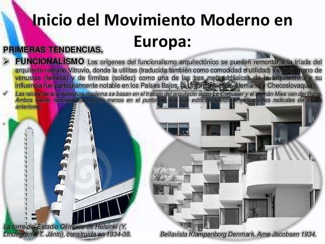 Inicios del movimiento moderno - Movimiento moderno ...