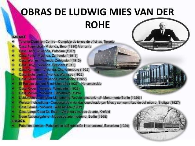 Inicios del movimiento moderno - Casa perls mies van der rohe ...