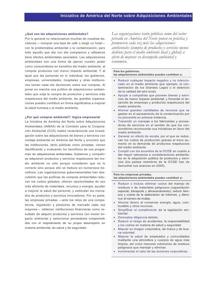 Iniciativa de América del Norte sobre Adquisiciones Ambientales    ¿Qué son las adquisiciones ambientales?                ...