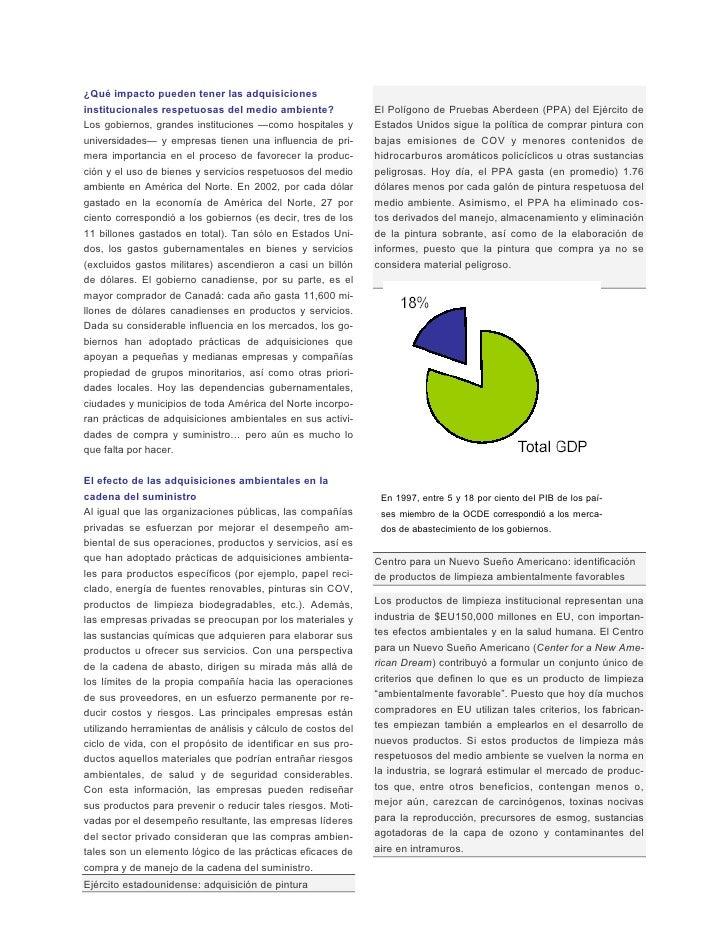 ¿Qué impacto pueden tener las adquisiciones institucionales respetuosas del medio ambiente?               El Polígono de P...