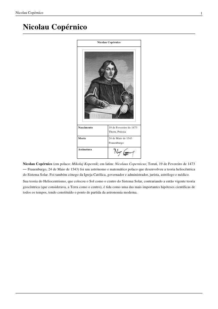 685619431 Nicolau Copérnico .