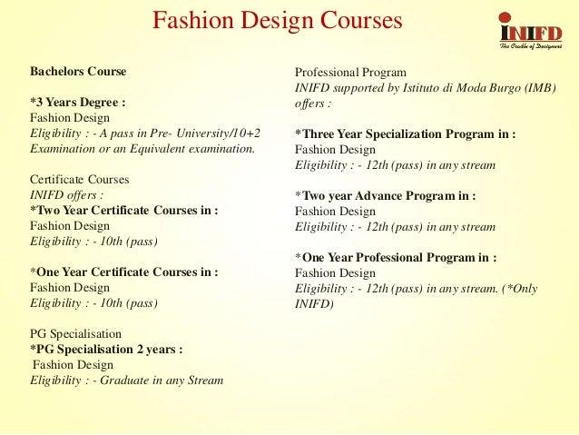 Degree in fashion designing 86
