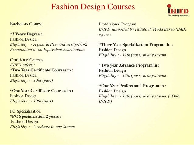 3 Bachelors Course Years Degree Fashion Design