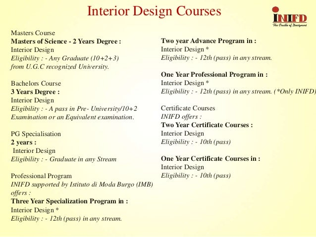 (*Only INIFD) Fashion Design Courses; 4.