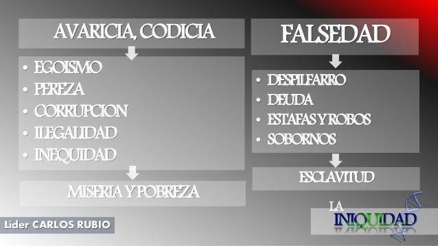 LA Líder CARLOS RUBIO • EGOISMO • PEREZA • CORRUPCION • ILEGALIDAD • INEQUIDAD AVARICIA,CODICIA FALSEDAD • DESPILFARRO • D...