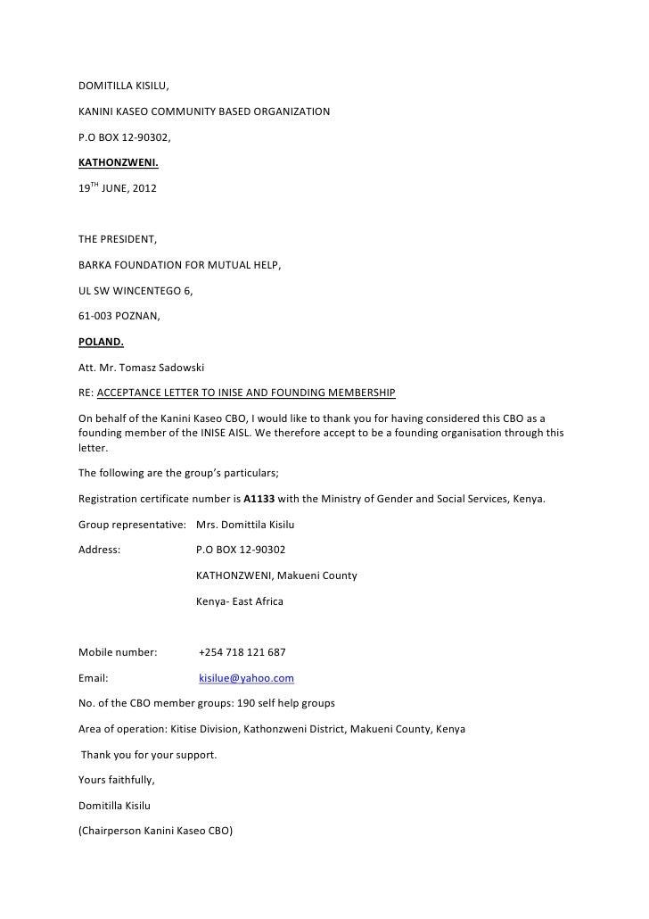 DOMITILLA KISILU,KANINI KASEO COMMUNITY BASED ORGANIZATIONP.O BOX 12-90302,KATHONZWENI.19TH JUNE, 2012THE PRESIDENT,BARKA ...