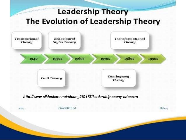http://www.slideshare.net/sham_260175/leadership-ssony-ericsson