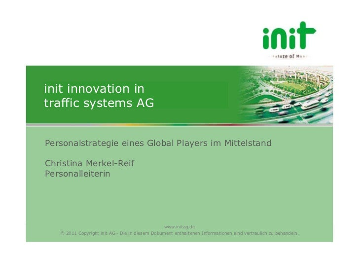 init innovation intraffic systems AGPersonalstrategie eines Global Players im MittelstandChristina Merkel-ReifPersonalleit...