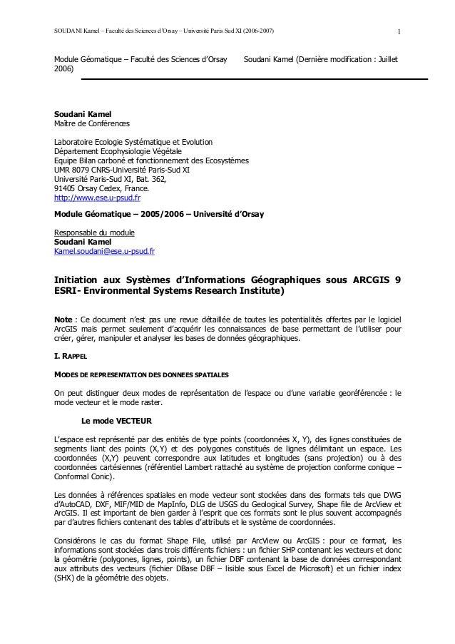 SOUDANI Kamel – Faculté des Sciences d'Orsay – Université Paris Sud XI (2006-2007)                                 1Module...