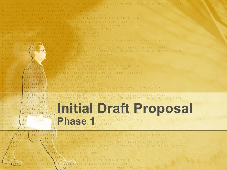 Initial Draft Proposal Phase 1