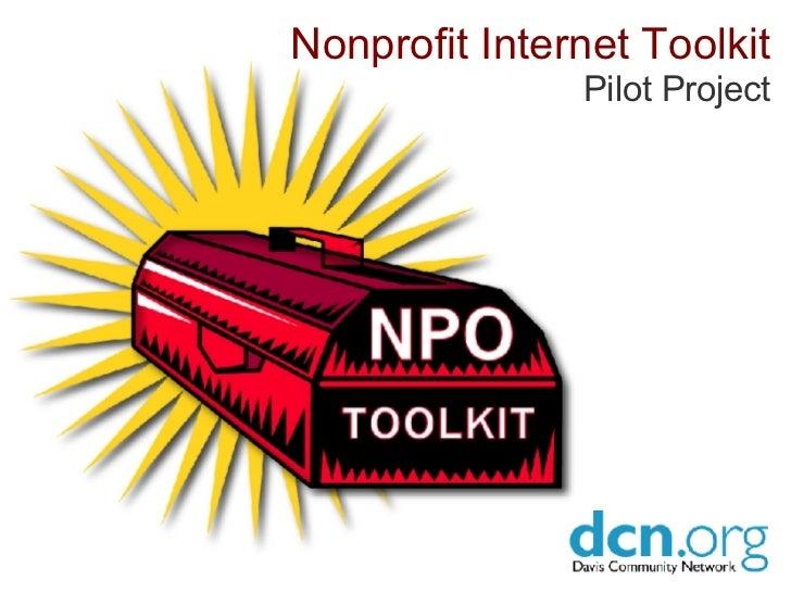 Nonprofit Internet Toolkit Pilot Project