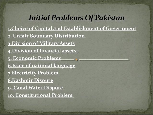 Initial problem of pakistan